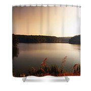 Early Autumn On The Lake Shower Curtain