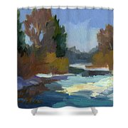 Early Autumn Snow Shower Curtain