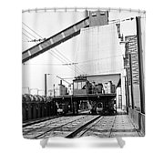 Early Charge Car Shower Curtain