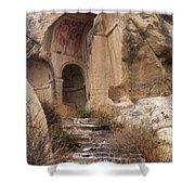 Early Christian Monastery  Shower Curtain