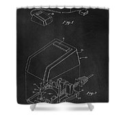 Early Computer Mouse Patent 1984 Shower Curtain