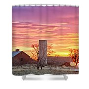 Early Country Morning Sunrise Shower Curtain