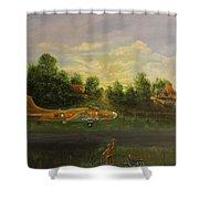 Early Departure Shower Curtain