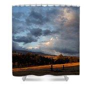 Early Evening Near Ashland Shower Curtain