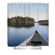 Early Evening Paddle Aka Paddle Muskoka Shower Curtain