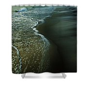 Early Evening Surf Shower Curtain