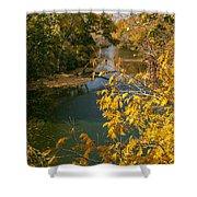 Early Fall On The Navasota Shower Curtain