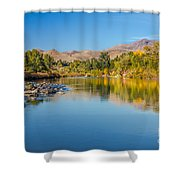 Early Fall On The Payette Shower Curtain