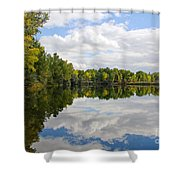 Early Fall Reflections Shower Curtain