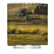 Early Fall Sunrise Shower Curtain