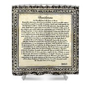Early Gothic Style Desiderata Shower Curtain
