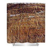 Early Indian Drawings Shower Curtain