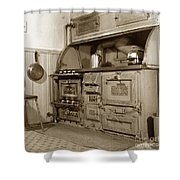 Early Kitchen With A Gas Stove 1920 Shower Curtain