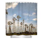 Early Model Wind Farm Shower Curtain