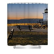 Early Morning At Bug Lighthouse Shower Curtain