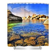 Early Morning At Lake Tahoe Shower Curtain
