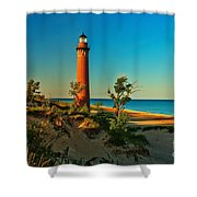 Early Morning At Little Sable Shower Curtain