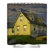 Early Morning At Peggys Cove In Nova Scotia Canada Shower Curtain