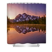 Early Morning At Picture Lake Shower Curtain