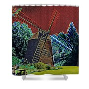 Early Morning At The Mill Shower Curtain