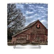 Early Morning Barn Shower Curtain