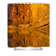 Early Morning Canyon Reflection Shower Curtain