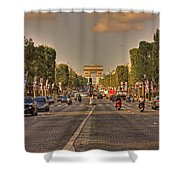 Early Morning Champes Elysees  Shower Curtain