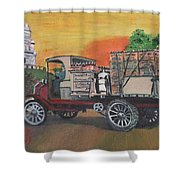 Early Morning Delivery Shower Curtain