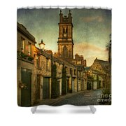 Early Morning Edinburgh Shower Curtain by Lois Bryan