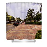 Early Morning In Miami Beach Shower Curtain