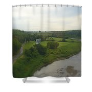 Early Morning In The Countryside Of Quebec Shower Curtain
