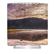 Early Morning Lake Light Shower Curtain by Robert Bales