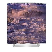 Early Morning Light On Minerva Springs Yellowstone National Park Shower Curtain