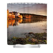 Early Morning Light On Robin Hoods Bay Shower Curtain