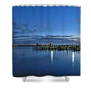 Early Morning Manatee River Shower Curtain