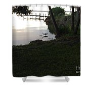 Early Morning Meal Shower Curtain