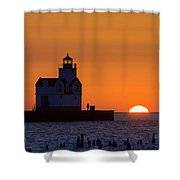 Early Morning Meeting Shower Curtain