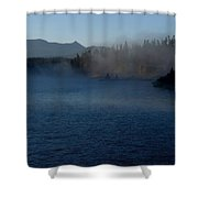 Early Morning Mist On A Lake Shower Curtain