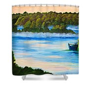 Early Morning On Lake Peipsi  Shower Curtain
