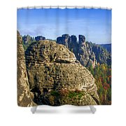 Early Morning On Neurathen Castle Shower Curtain