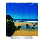 Early Morning On The Beach II Shower Curtain