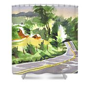 Early Morning Out Route Jj Shower Curtain
