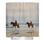 Early Morning Paddle Shower Curtain