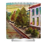 Early Morning Side Street  Shower Curtain