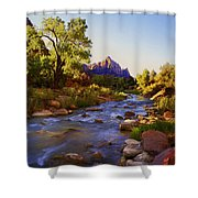 Early Morning Sunrise Zion N.p. Shower Curtain