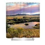 Early Morning View Shower Curtain