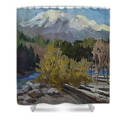 Early Snow Cascade Mountains Shower Curtain