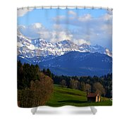 Early Snow In The Swiss Mountains Shower Curtain