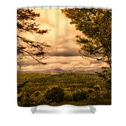 Early Spring Rain Shower Curtain