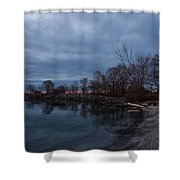 Early Still And Transparent - On The Shores Of Lake Ontario In Toronto Shower Curtain